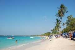Playa Blanca, main beach near Cartagena on Isla Barú.
