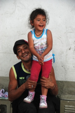 Father and daugher, Zipaquirá.
