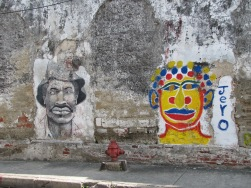 Art on a wall in Getsemani. Photo by Bryanna Plog.