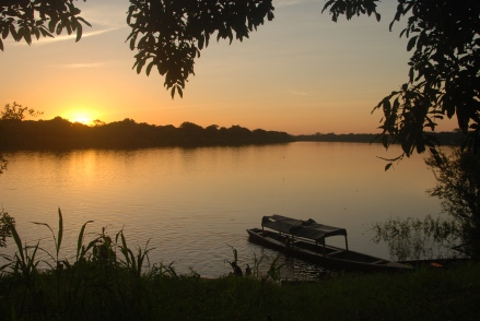 Sunset on Lake Tarapoto.