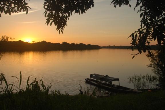 Sunset on Lake Tarapoto.