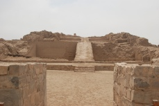 Pre-Inca ruins of Pachacamac, south of Lima. Temples and pyramids built between A.D. 800 and 1450.