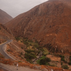 Road between Lima and Huaraz.