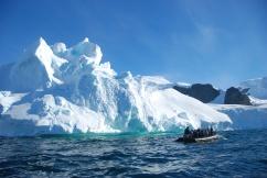 Zodiac and iceberg