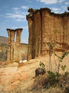 Geologic formations at Isimila, near Iringa, central Tanzania.