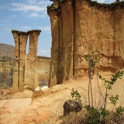 Geologic formations at Isimila, near Iringa, central Tanzania.