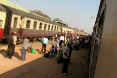 Train headed from Kigoma to Dar es Salaam.