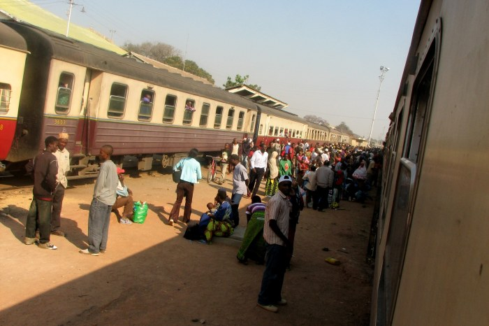 Train headed from Kigoma to Dar es Salaam.