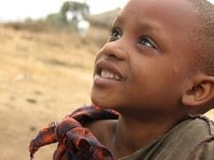 A young Maasai girl in the small village of Eluai,in northern Tanzania.