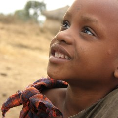 A young Maasai girl in the small village of Eluai,in northern Tanzania.