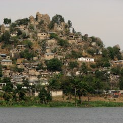Slums rise up the hills around Mwanza, on Lake Victoria