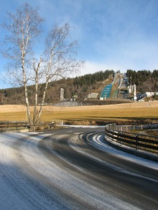 Lillehammer with ski jump from 1994 Olympics.