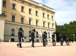 Changing of the guard at the royal palace, Oslo.