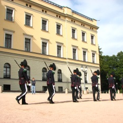 Changing of the guard at the royal palace, Oslo.