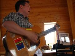 Sami musician in Árran.