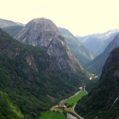 Fjord scenery outside Flåm.