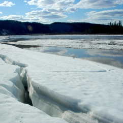 Spring break-up of the Copper River.