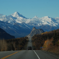 Glenn Highway in autumn.
