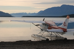 Floatplane on Naknek Lake, Katmai National Park.