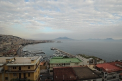 View of Bay of Naples and Vesuvius