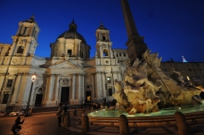 Piazza Navona, with Sant'Agnese in Agone Church and Fountain of the Four Rivers, Rome.