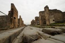 Excavated street, Pompeii.
