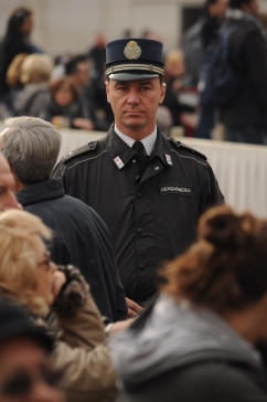 Italian police officer in the Vatican