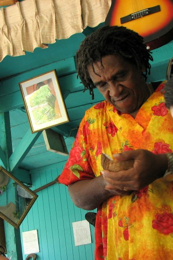 """Sanky opens our coconut, Costa Rica, from """"Be Careful What You Eat"""""""