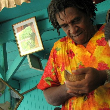 "Sanky opens our coconut, Costa Rica, from ""Be Careful What You Eat"""