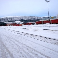 "Fauske, Norway train depot, from ""Head South for the Winter"""