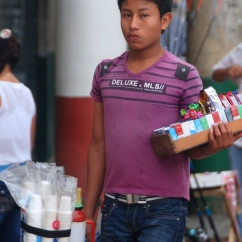 "Coffee vendor selling tinto in Cartagena, Colombia, from ""Drink Colombian Coffee"""