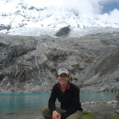 "The author hiking (alone) in Huscaran NP, Peru, from ""Always Have a Travel Buddy"""