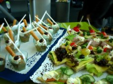 """Free appetizers, Basel Airport, from """"If It Sounds Too Good to Be True, It Probably Is"""""""