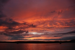 "Sunset, Lopez Island, Washinging, from ""Never Hitchhike"""