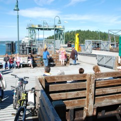 "Ferry dock in Friday Harbor, Washington from ""Never Hitchhike"""