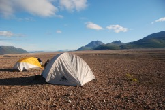 "Camping in the Valley of Ten Thousand Smokes, Alaska from ""Stick to the Trail"""