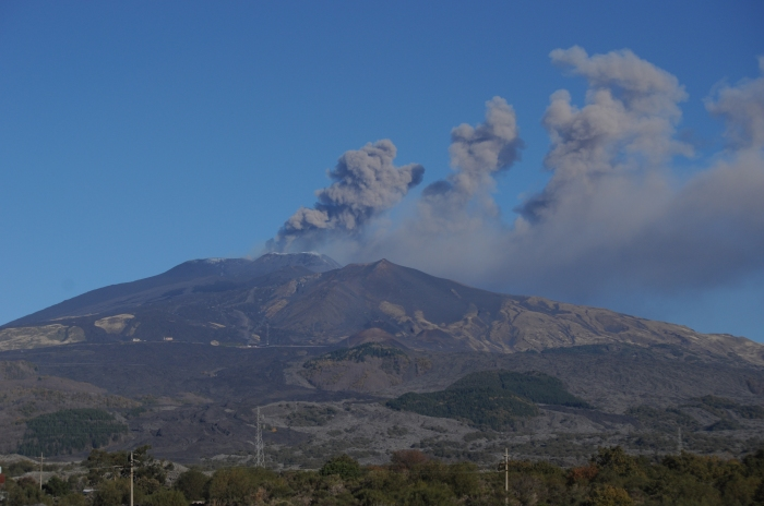 Mt. Etna erupts when I visited in December 2015.