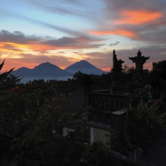 Mt. Agung and Mt. Abang, Bali.