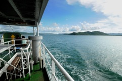 Ferry crossing between Bali and Lombok.