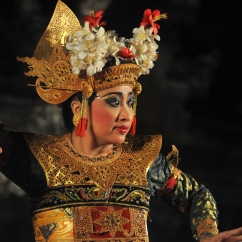 Traditional dancer, Ubud, Bali.