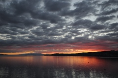 Lake Taupō at sunset.