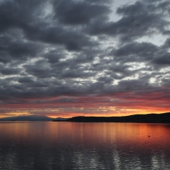 Lake Taupō at sunset.
