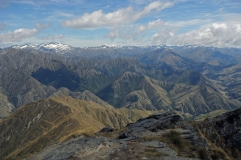 The Remarkables and Mt. Aspiring National Park from Ben Lomond Peak.