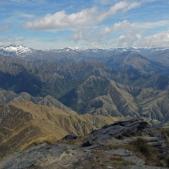 The Remarkables and Mt. Aspiring National Park from Ben Lomond Peak.