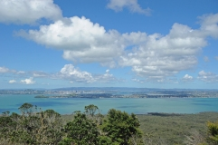 View of Auckland from Rangitoto Island.