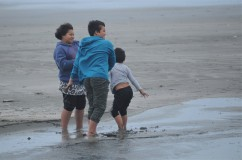 Children on a beach, Ohope.