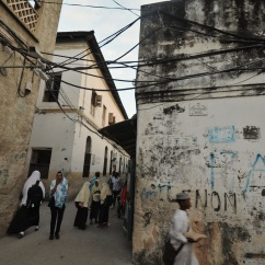 Street in old Stone Town, Zanzibar